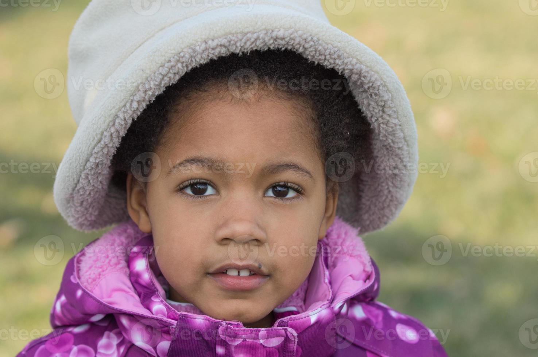 afroamerikanisches Mädchen foto