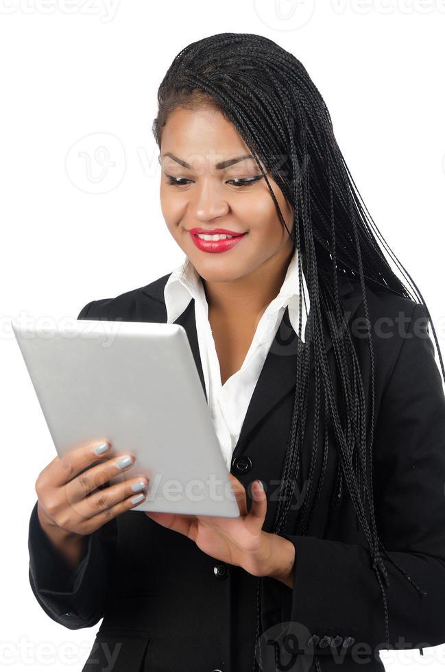 selbstbewusste afroamerikanische Geschäftsfrau foto