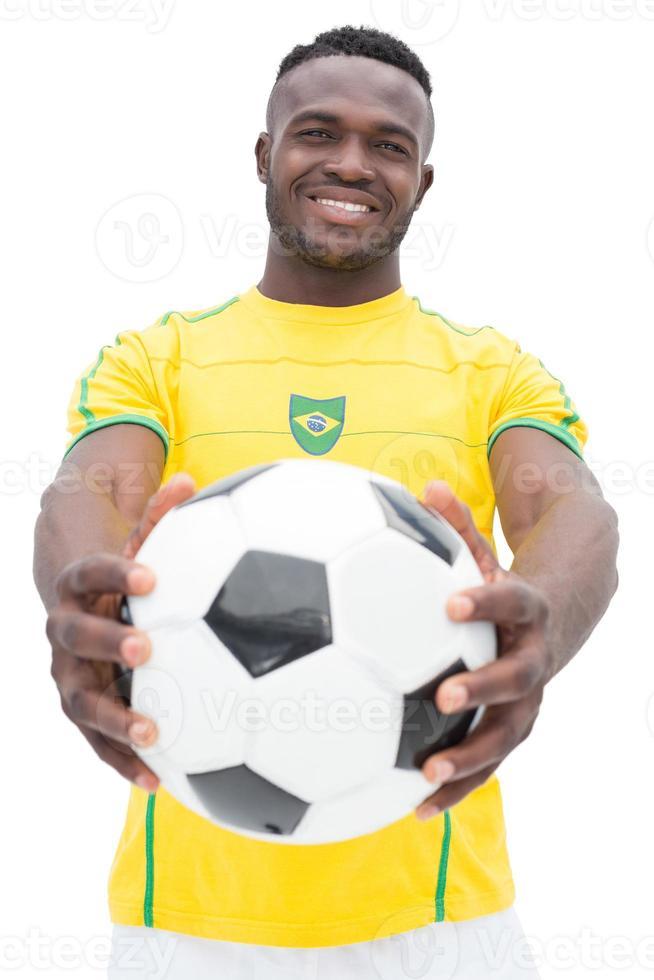 Porträt des brasilianischen Fußballspielers foto