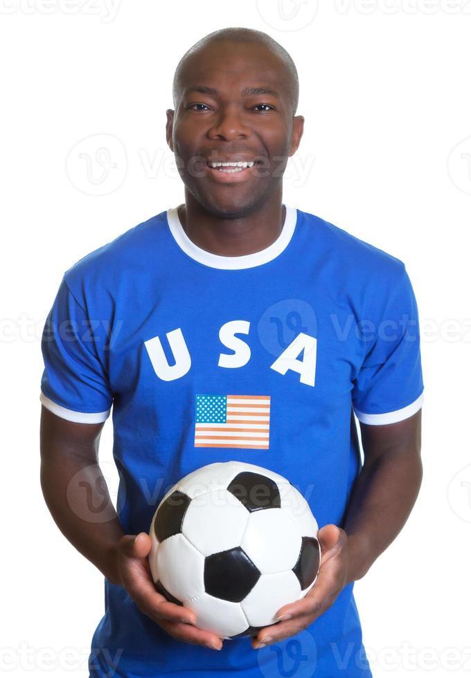lachender Fußballfan aus den USA foto