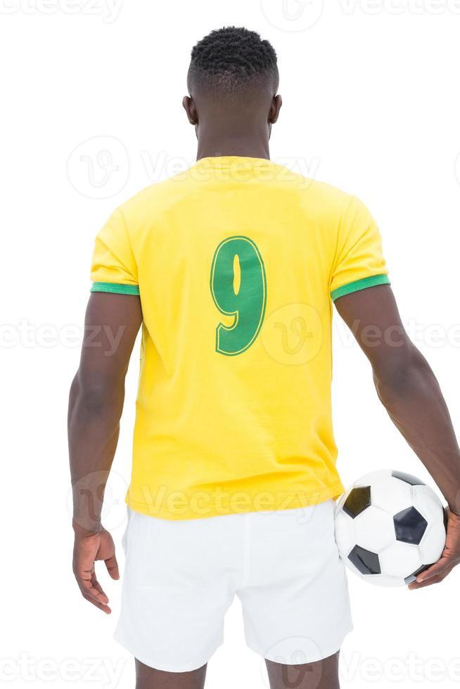 Rückansicht des brasilianischen Fußballspielers foto