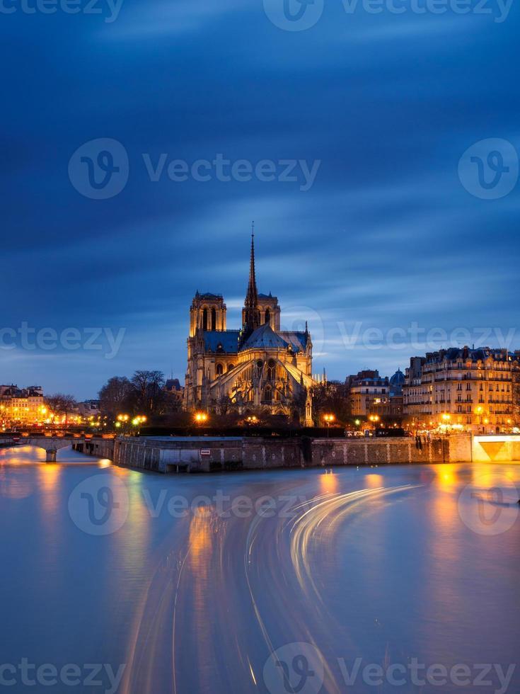 Notre-Dame und Seine foto