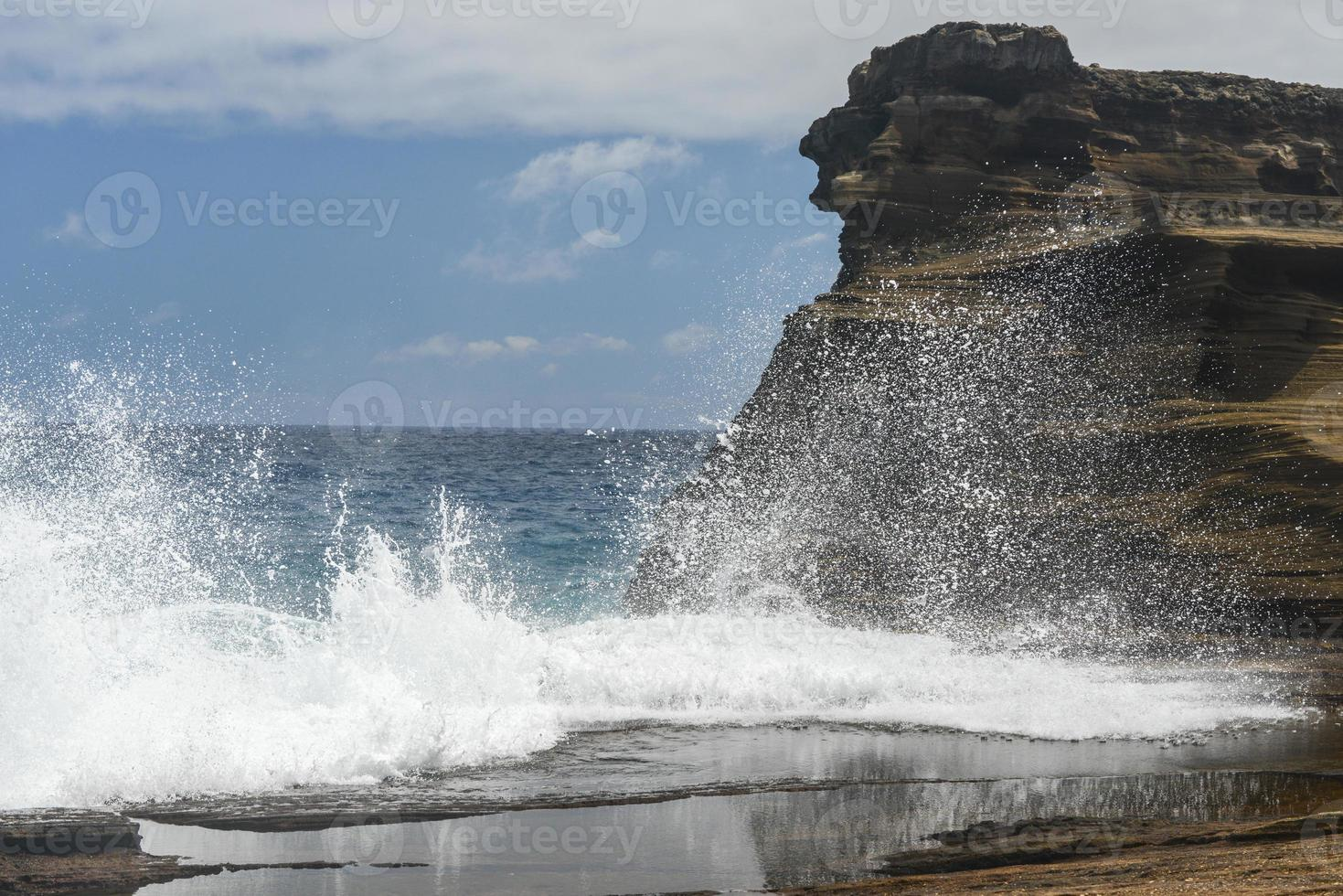 tropische Aussicht, Lanai Aussichtspunkt, Hawaii foto
