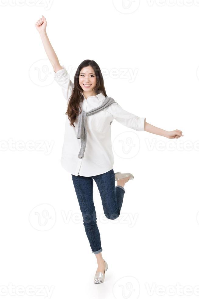 fröhliche asiatische Frau foto