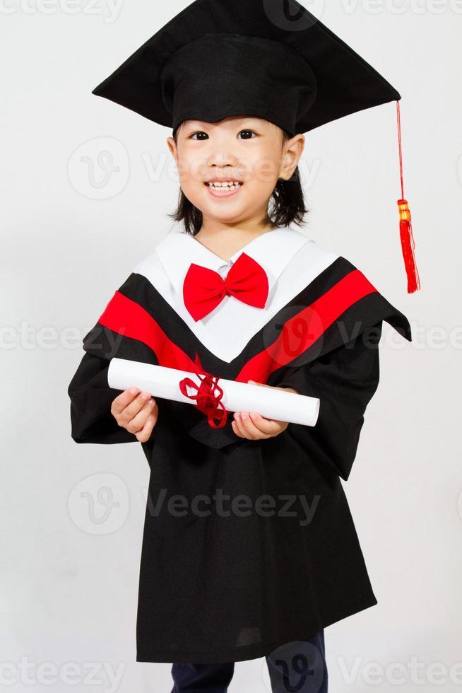 asiatisches Kind Abschluss foto