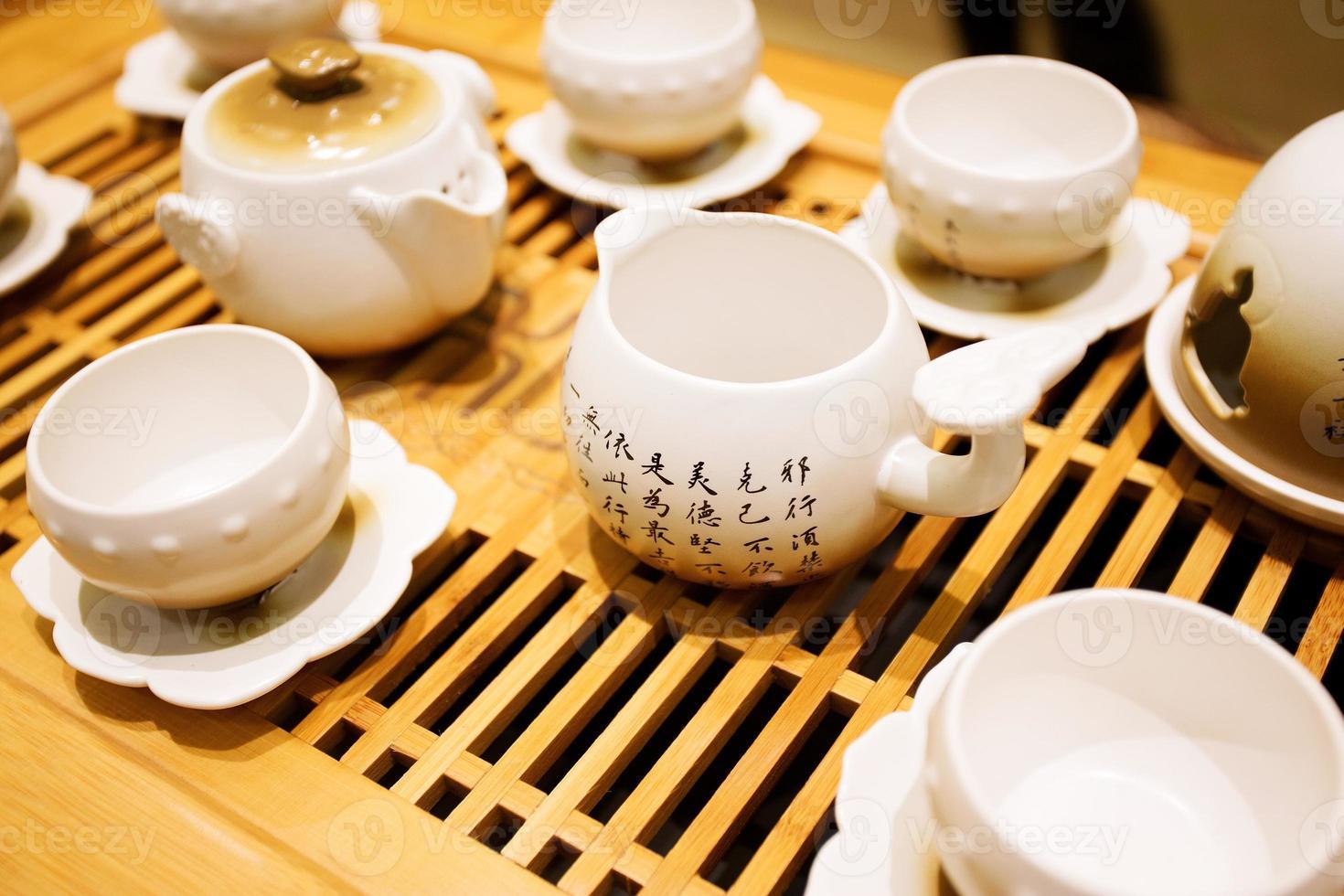 klassisches asiatisches Teeservice foto