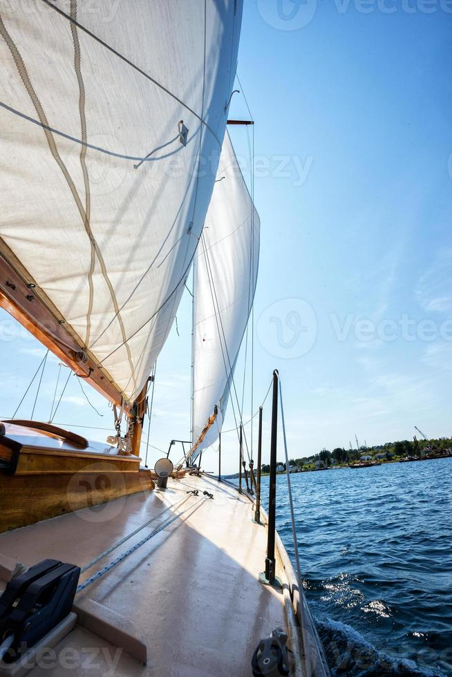 Segel auf Segelboot foto