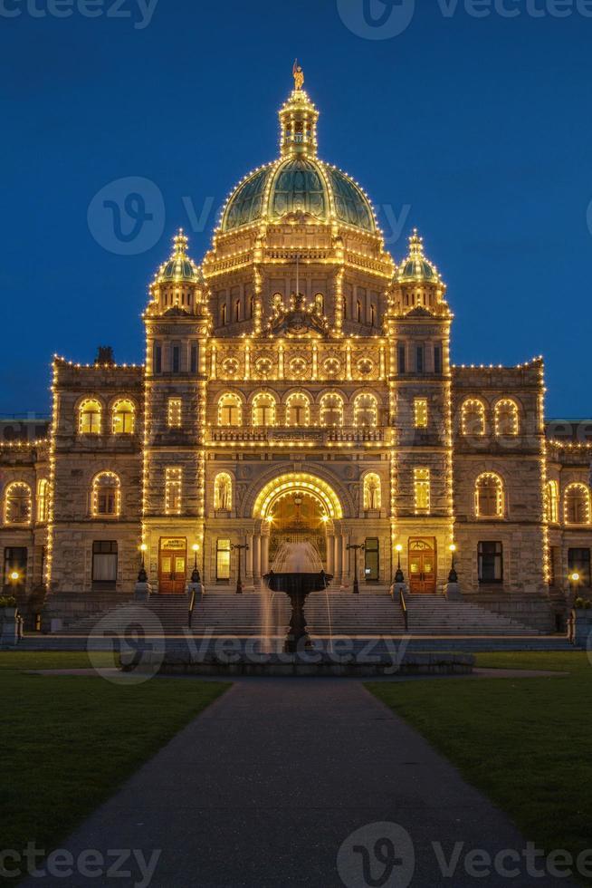 Abendansicht des Regierungshauses in Victoria bc foto