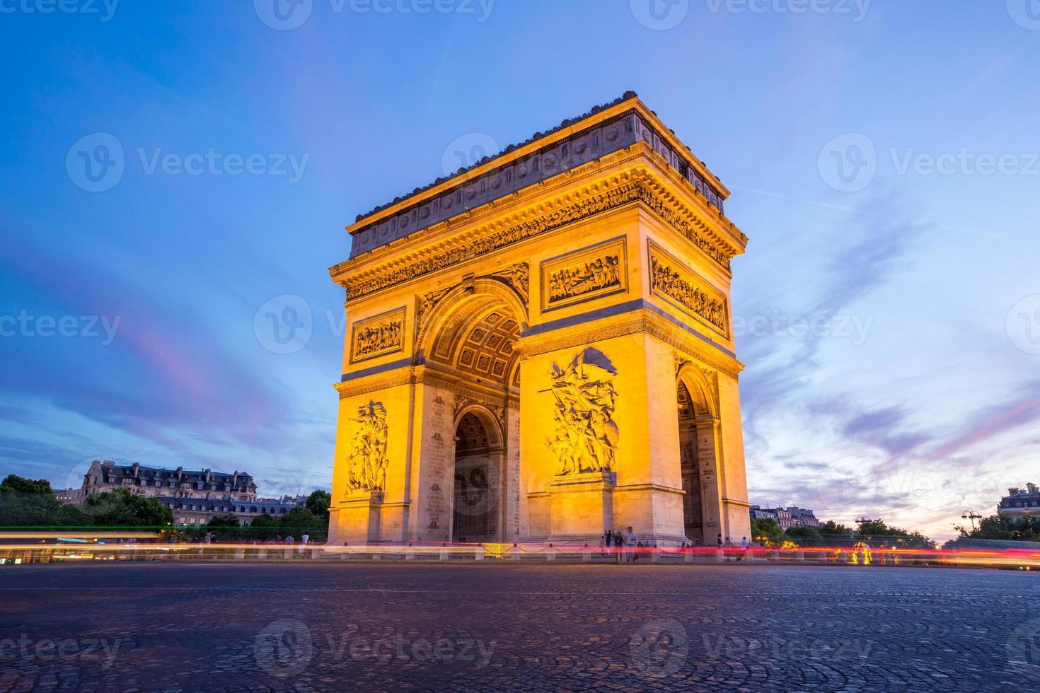 Bogen von Triomphe Paris foto