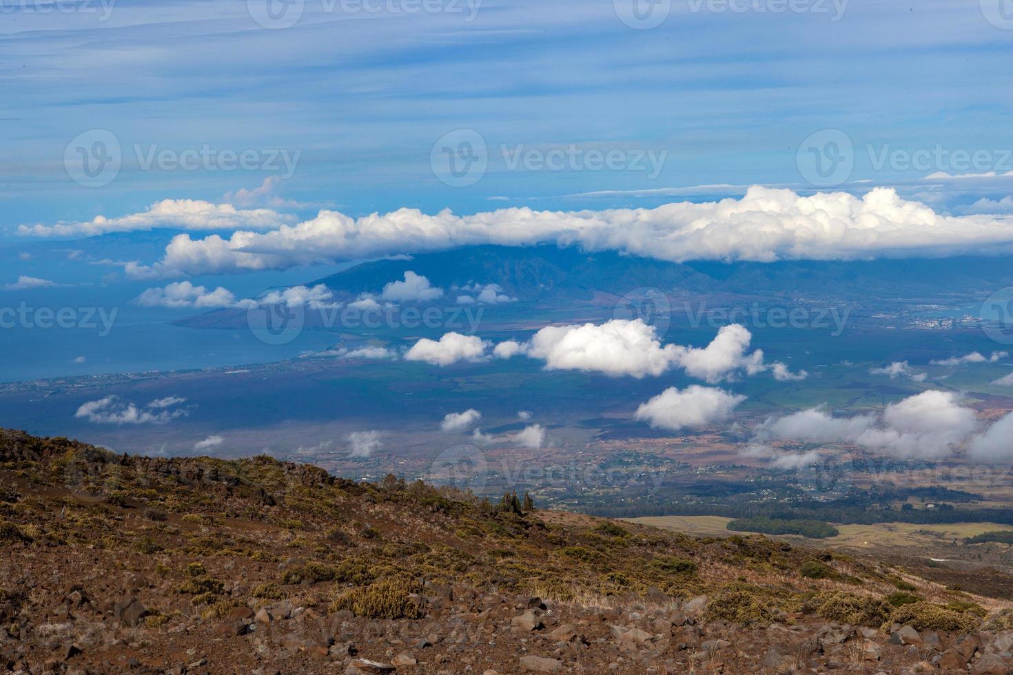 Luftaufnahme der Küste von Maui foto