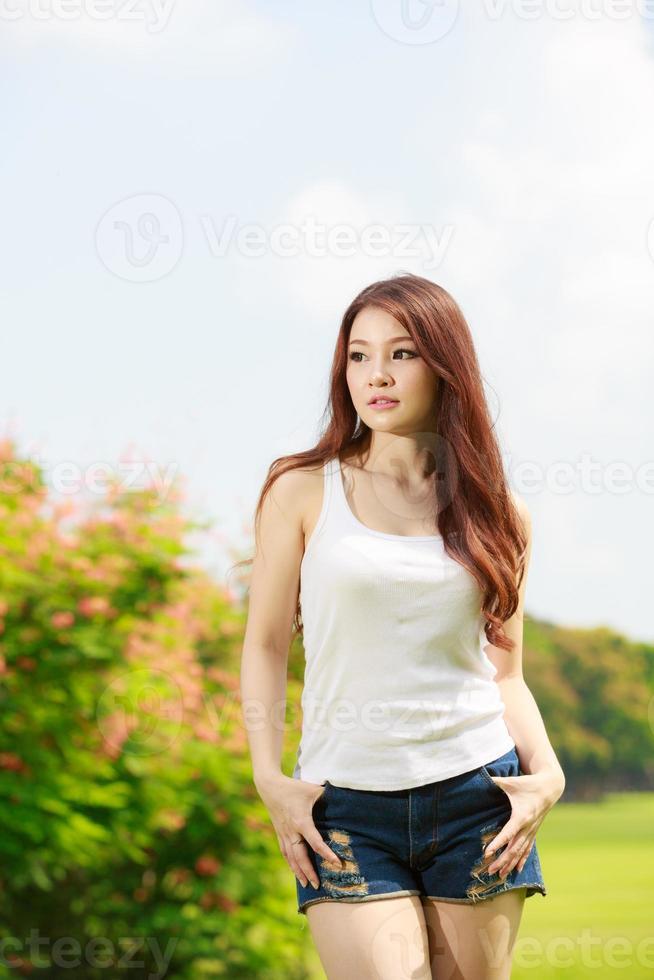 asiatisches Mädchen schön foto