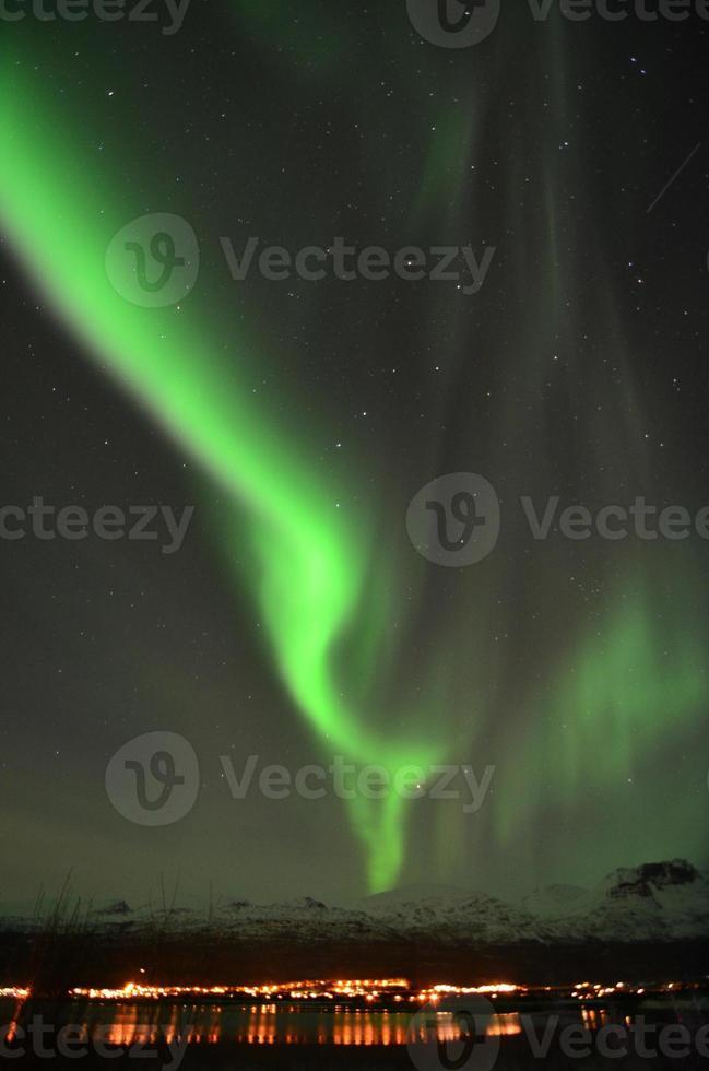 Nordlichter im Norden Norwegens foto