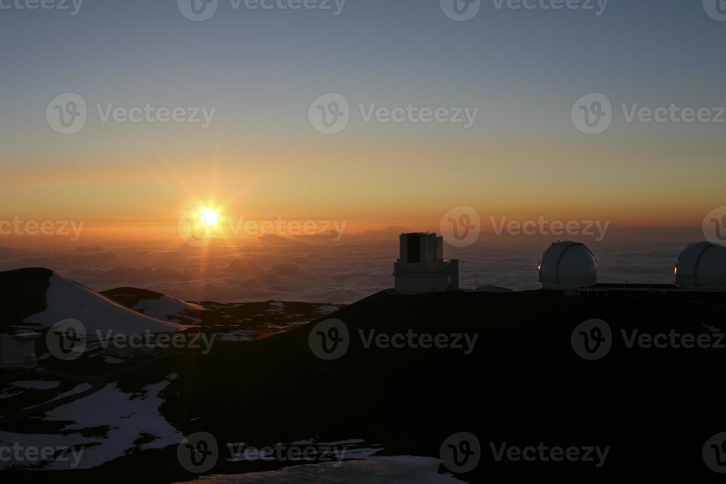 Observatorium auf Mauna Kea Hawaii foto