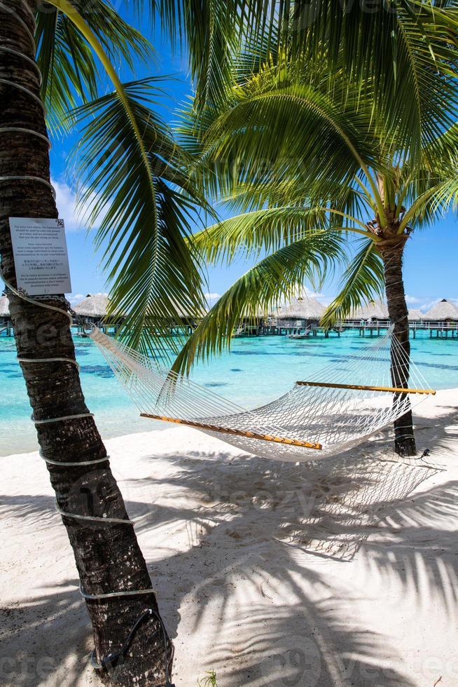 Französisch Polynesien Überwasserbungalows foto