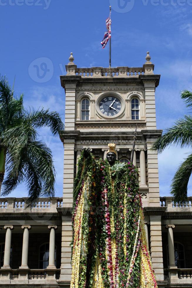 Statue des Königs Kamehameha, Honolulu, Hawaii foto
