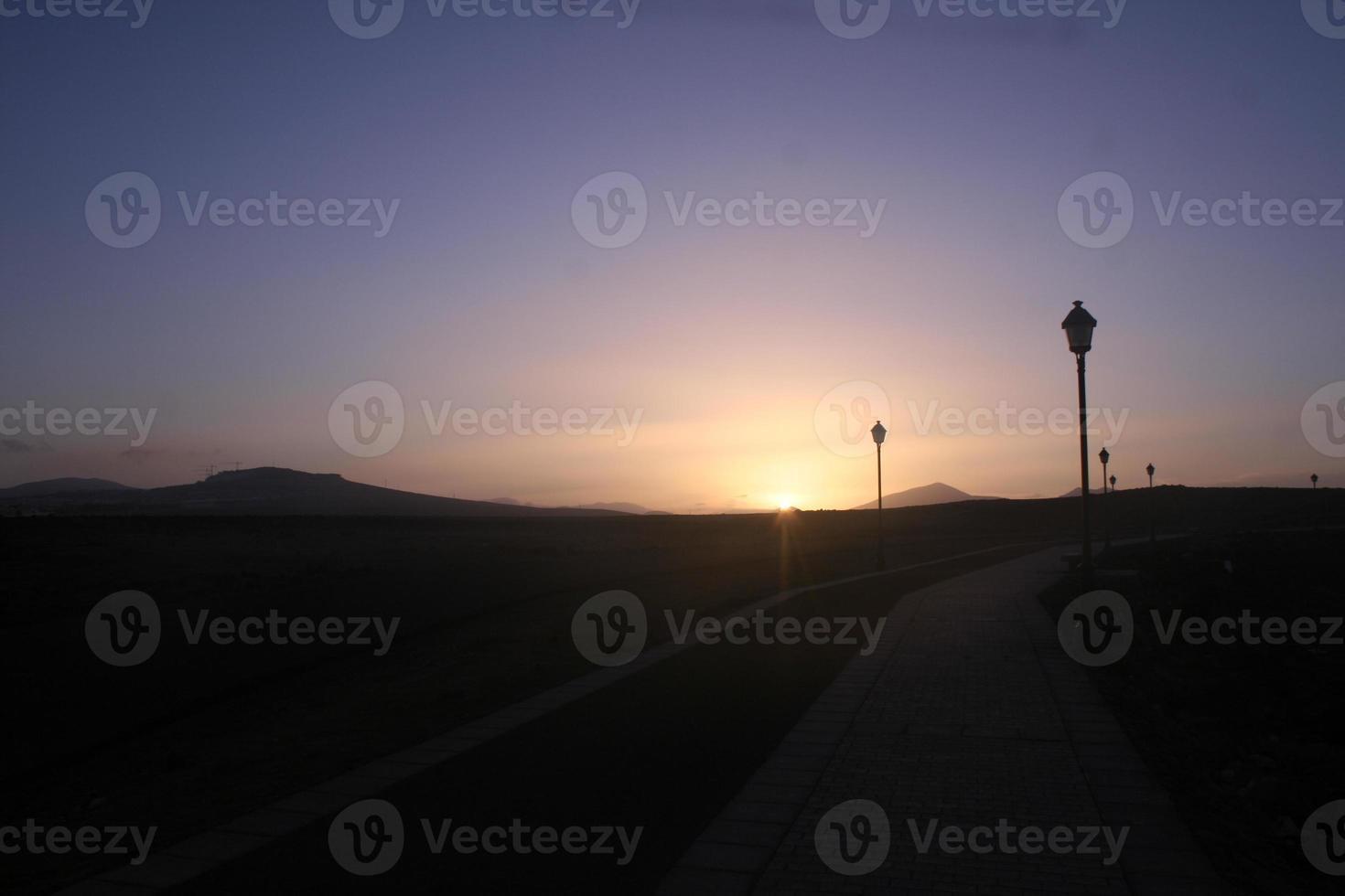 Nachtansicht auf die Wüste - Fuerteventura foto
