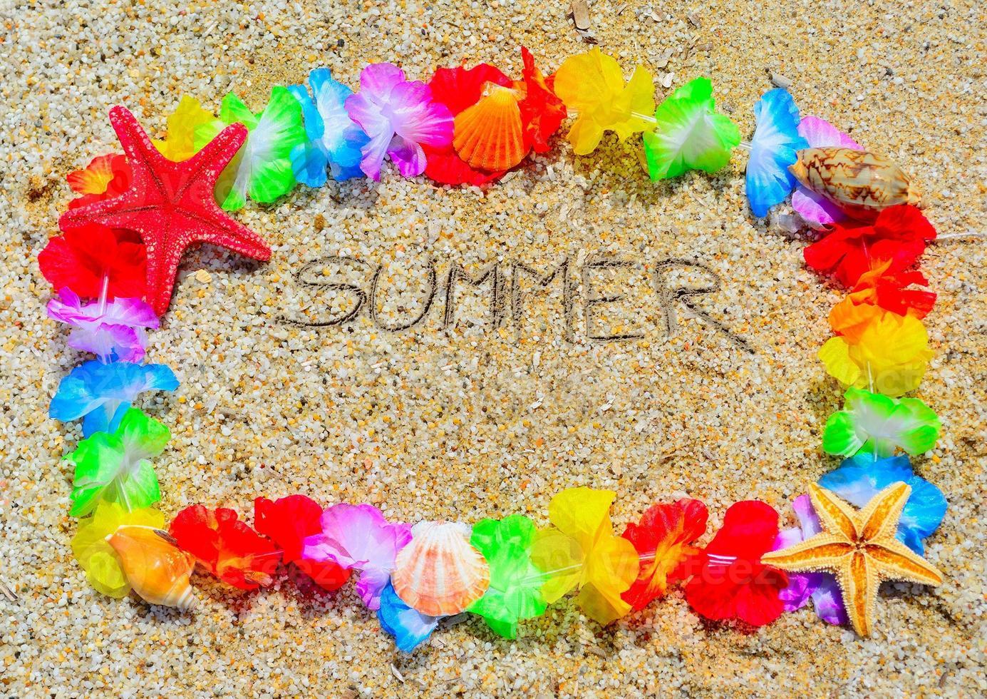 Sommer in einem hawaiianischen Rahmen foto