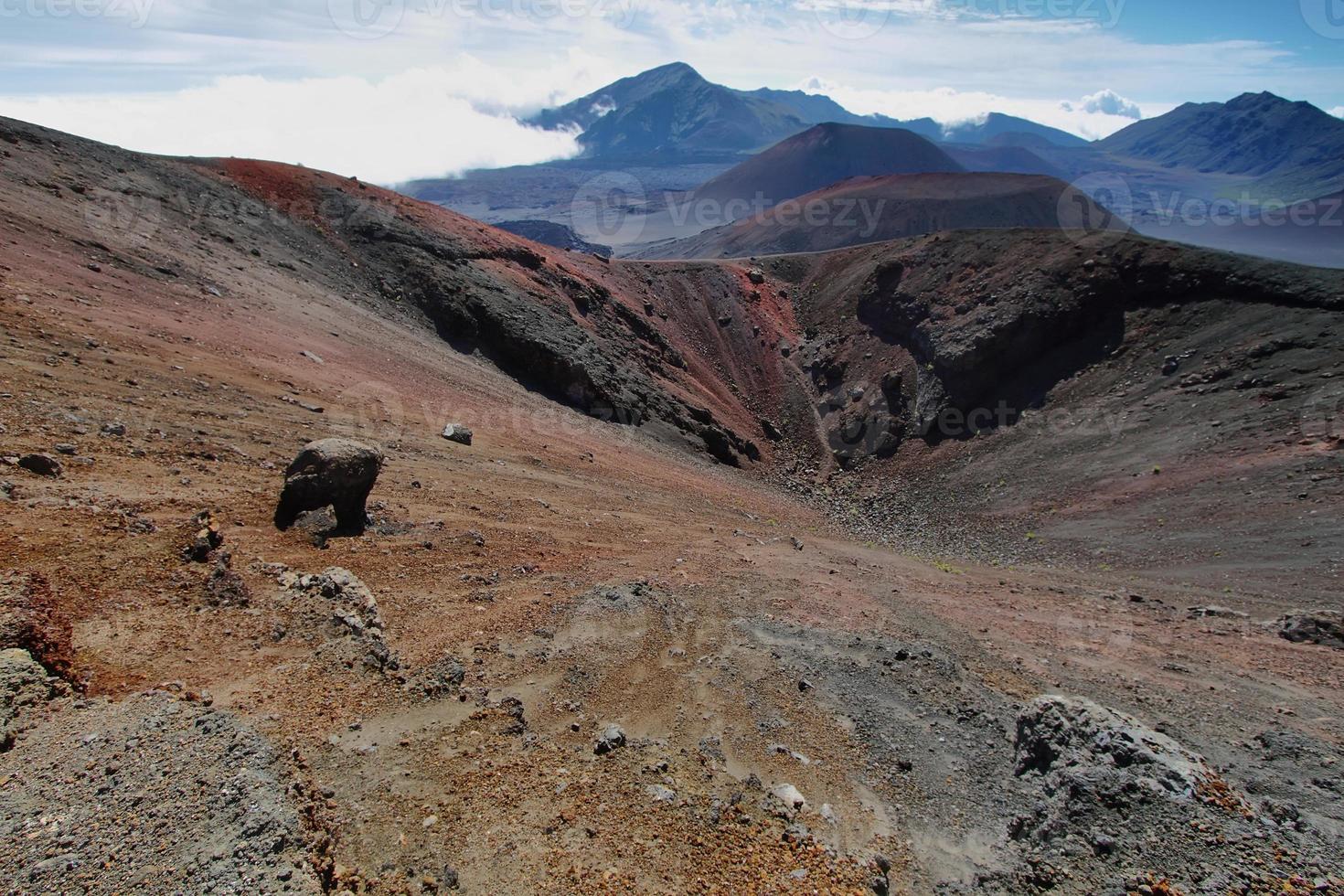 Caldera des Vulkans Haleakala auf der Insel Maui foto