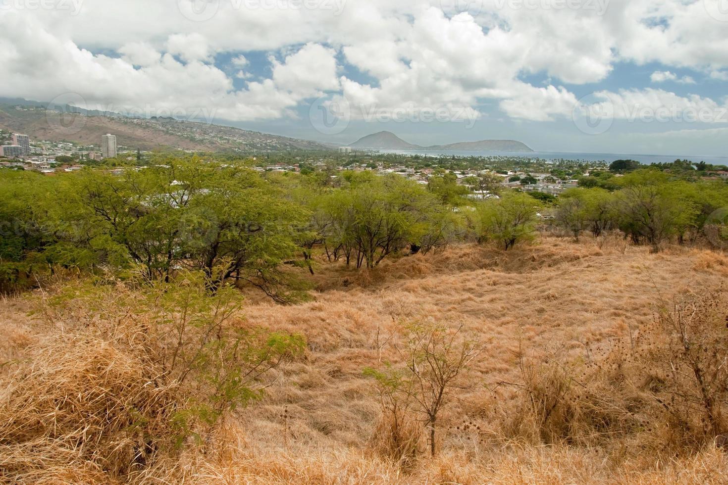 Diamond Head State Monument Park Trail in der Nähe von Honolulu auf Oahu foto