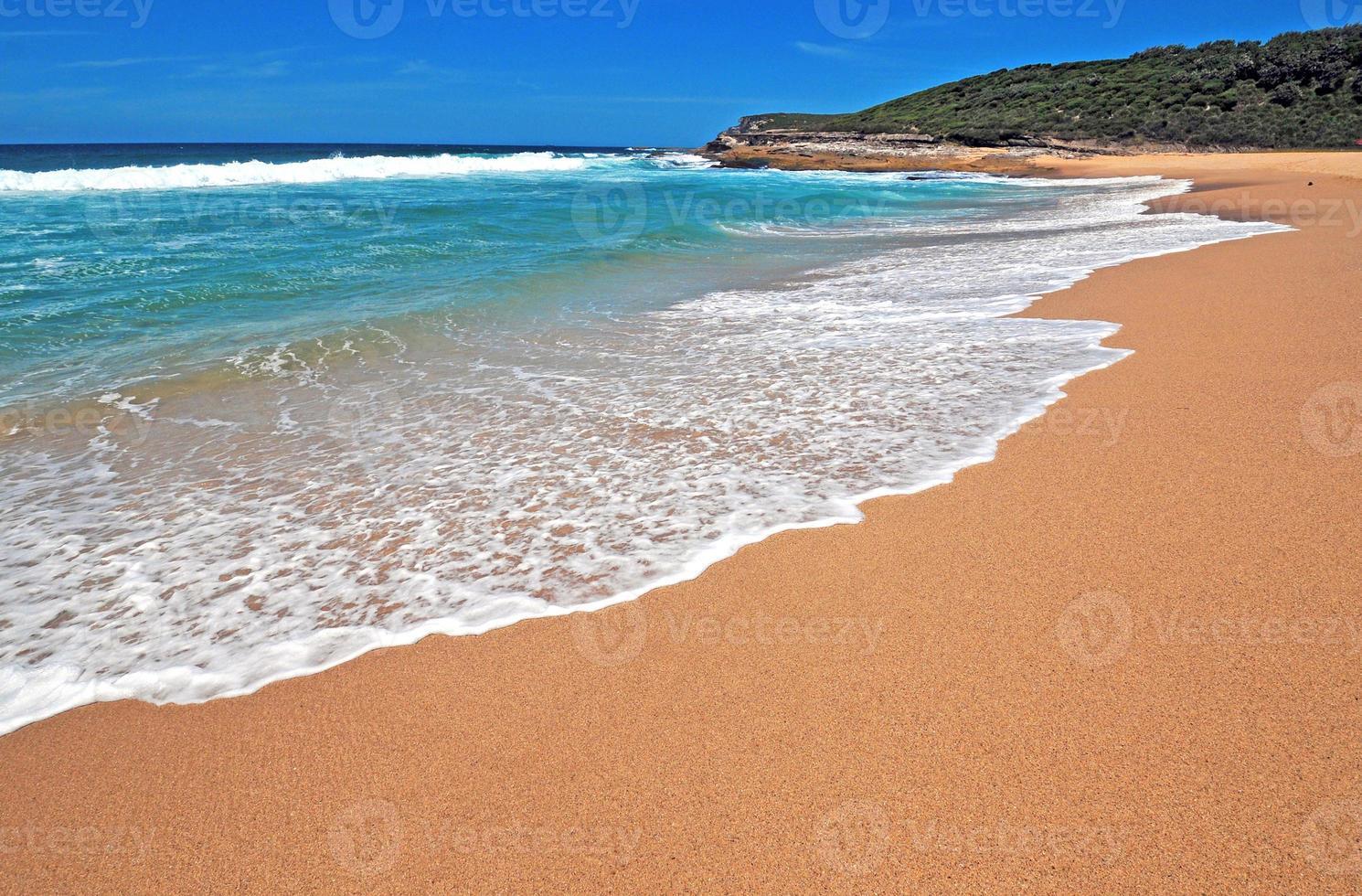 isolierter unberührter Strand nahe Sydney, nsw Australien foto