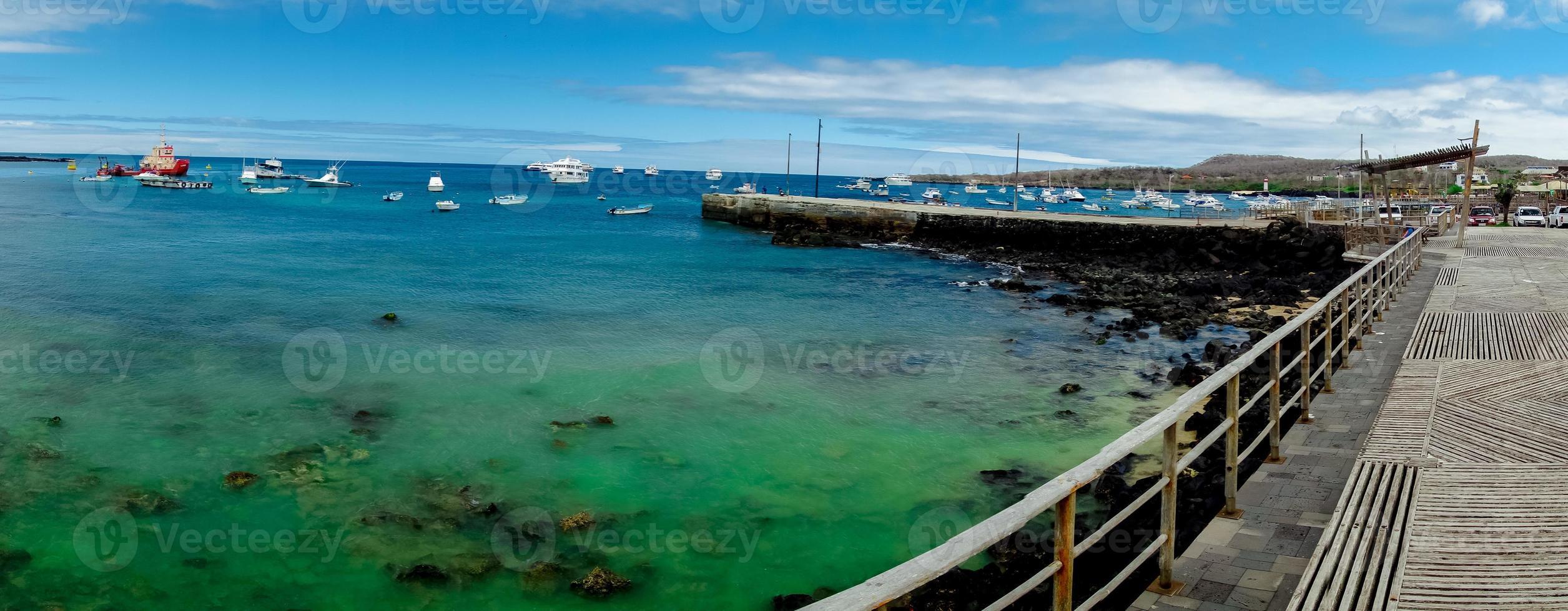 Yachthafen in San Cristobal Galapagos Inseln Ecuador foto
