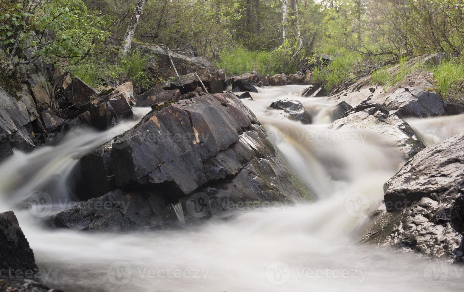 natürlicher Fluss, Naturschutzgebiet in Schweden foto