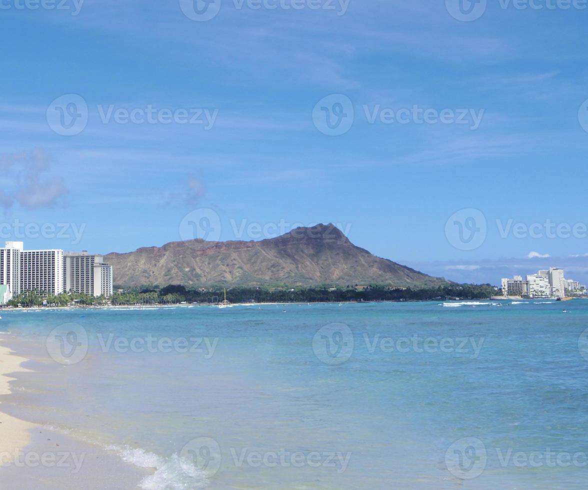 Diamantkopf und Waikiki Strand foto