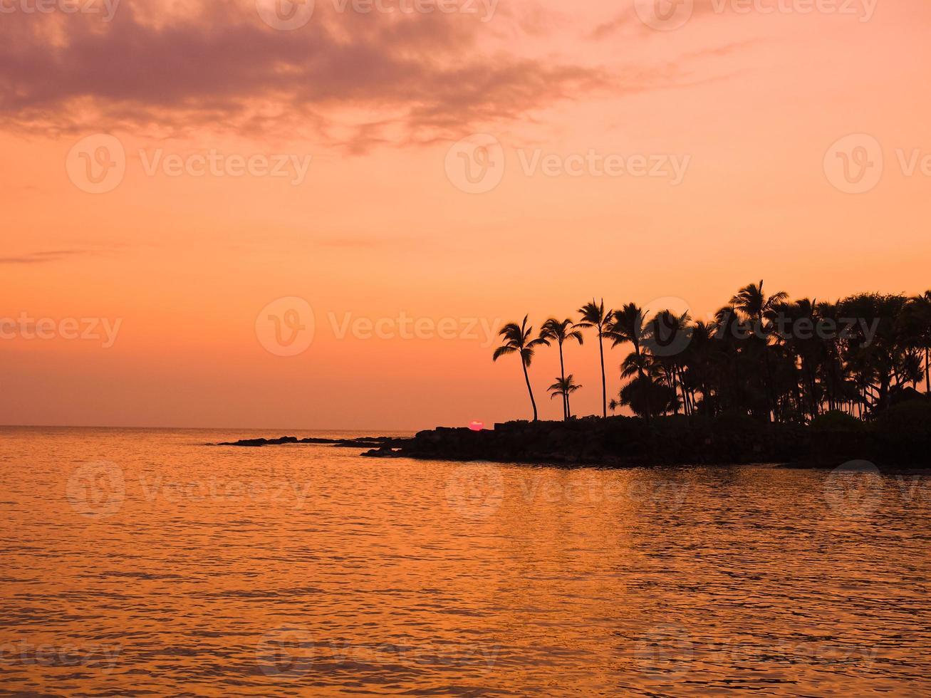 Sonnenuntergang der Hawaii-Insel foto