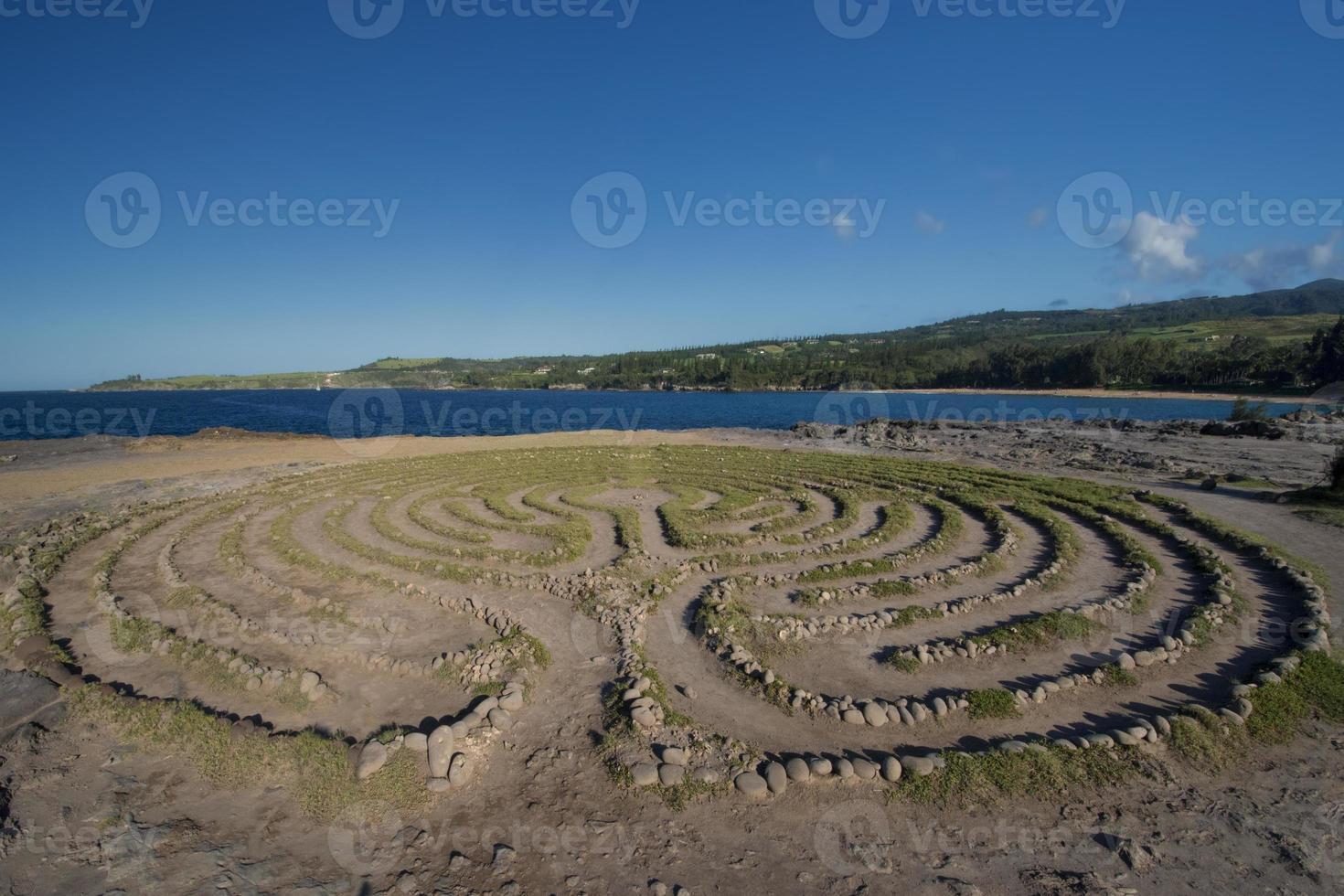 Labyrinth in der Nähe von Drachenzähnen, Maui, Hawaii foto