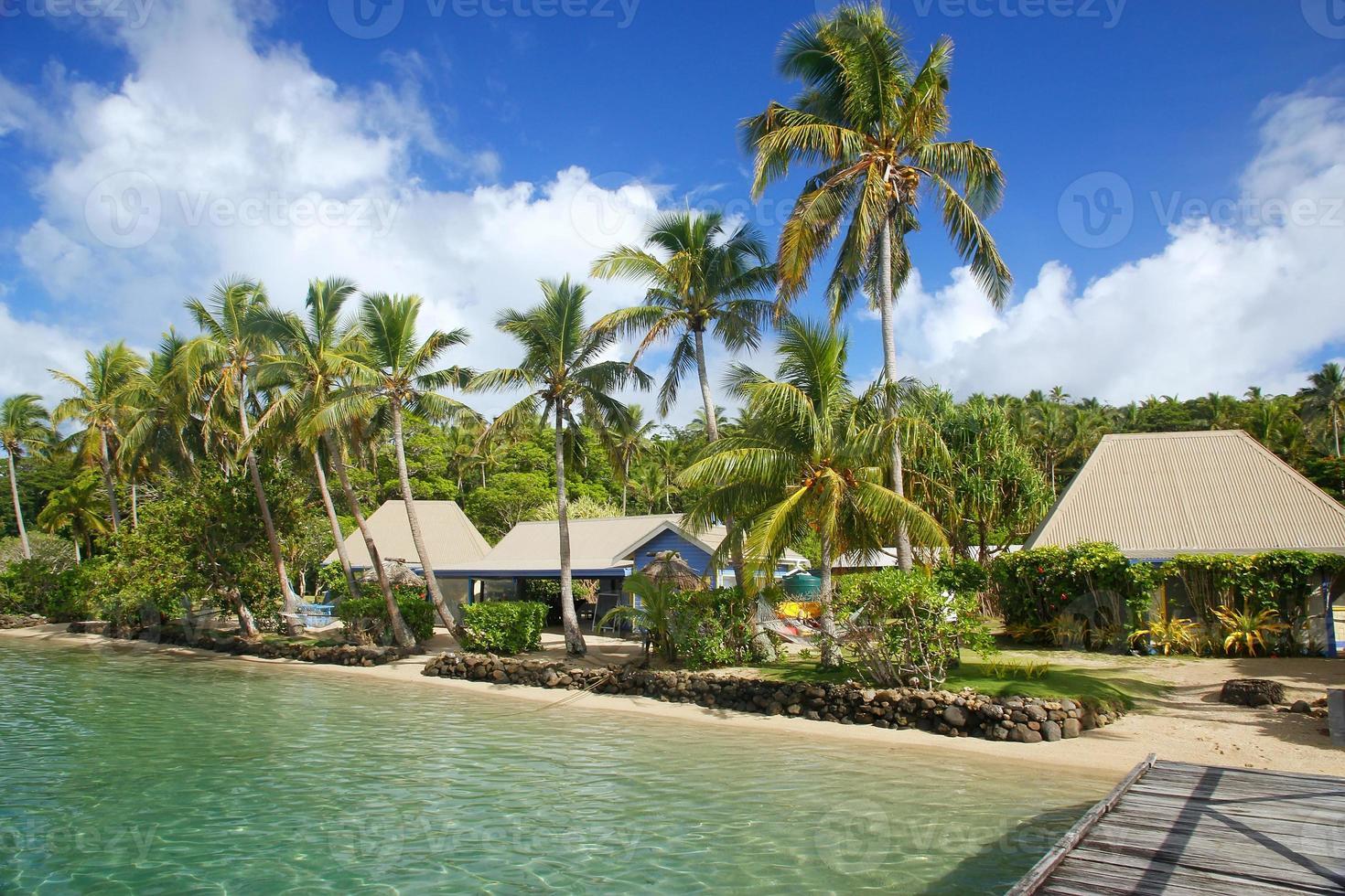 tropisches Resort auf der Insel Nananu-i-Ra, Fidschi foto