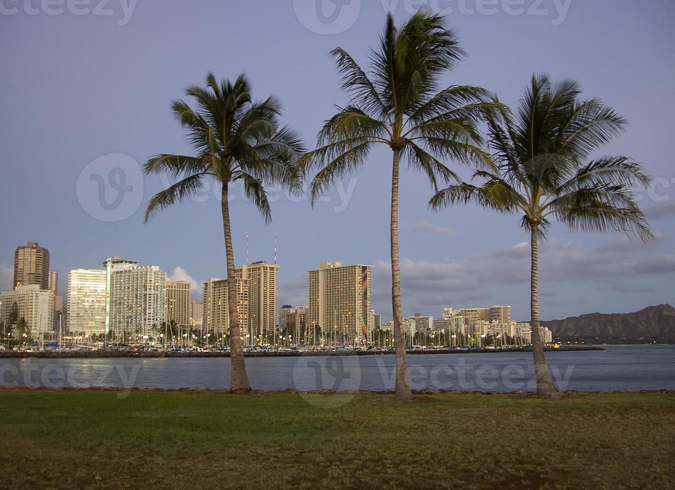 Waikiki Dämmerung foto