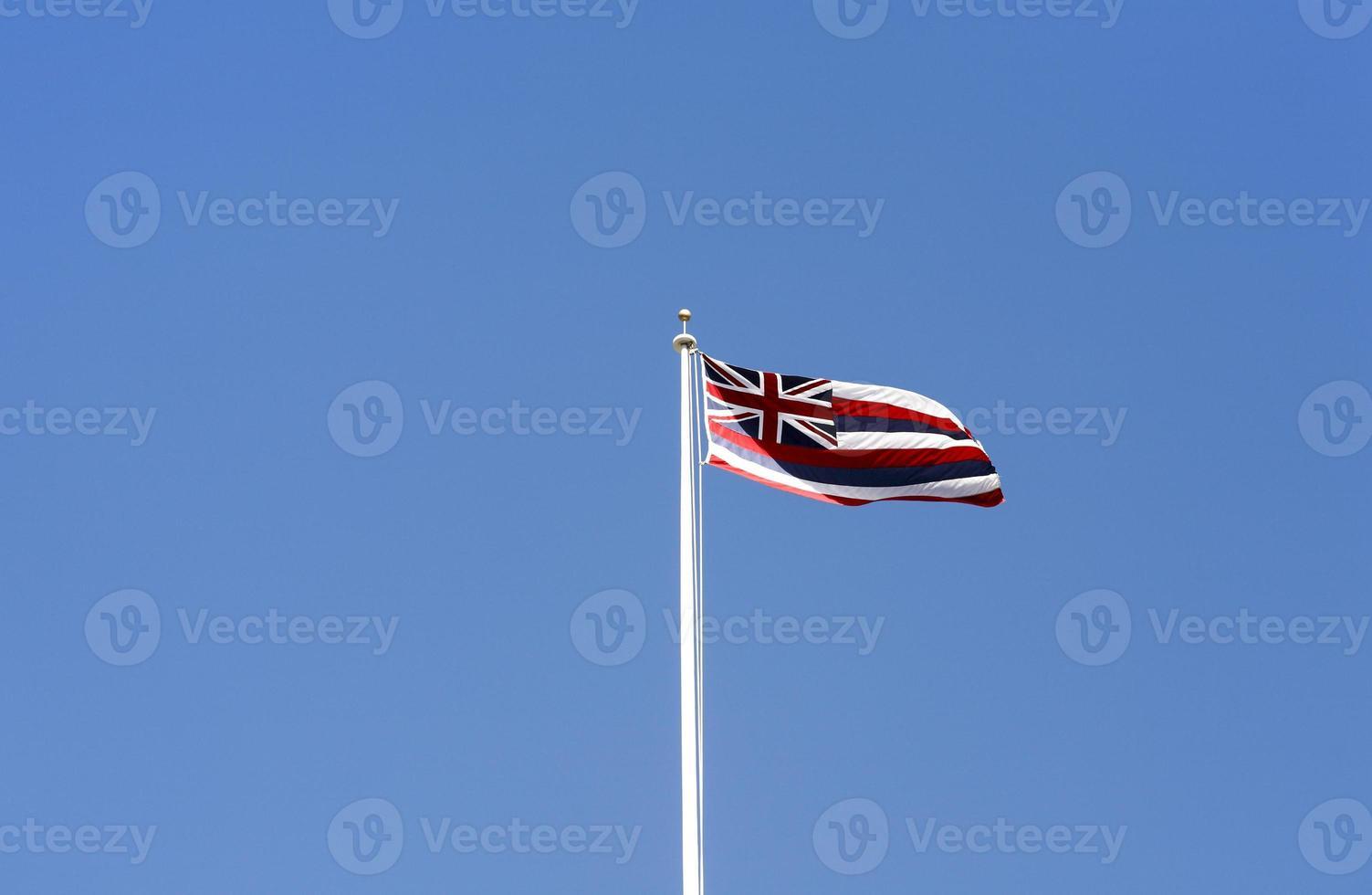 Zustand der Hawaii-Flagge. foto