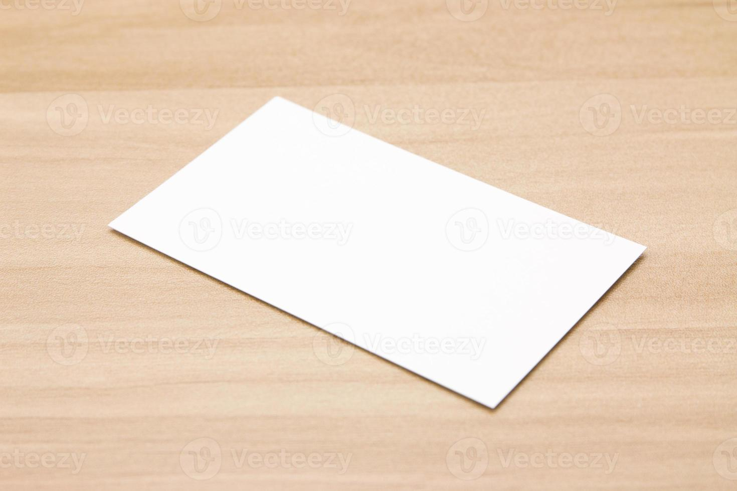 Visitenkarte am Schreibtisch foto