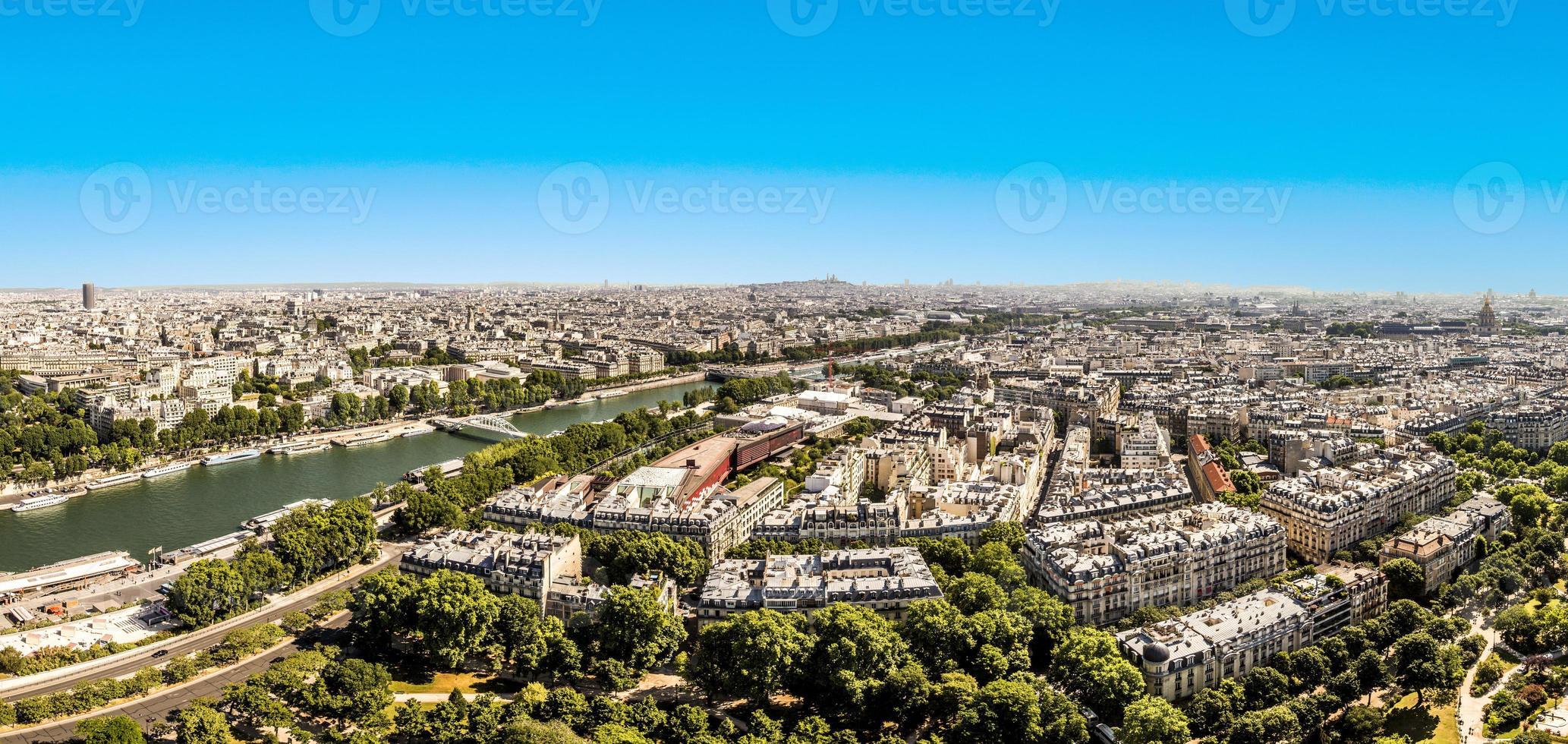 Skyline von Paris foto