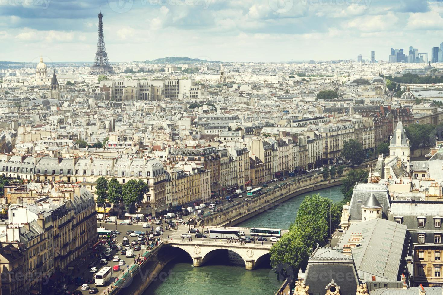 Blick auf Paris, Frankreich foto