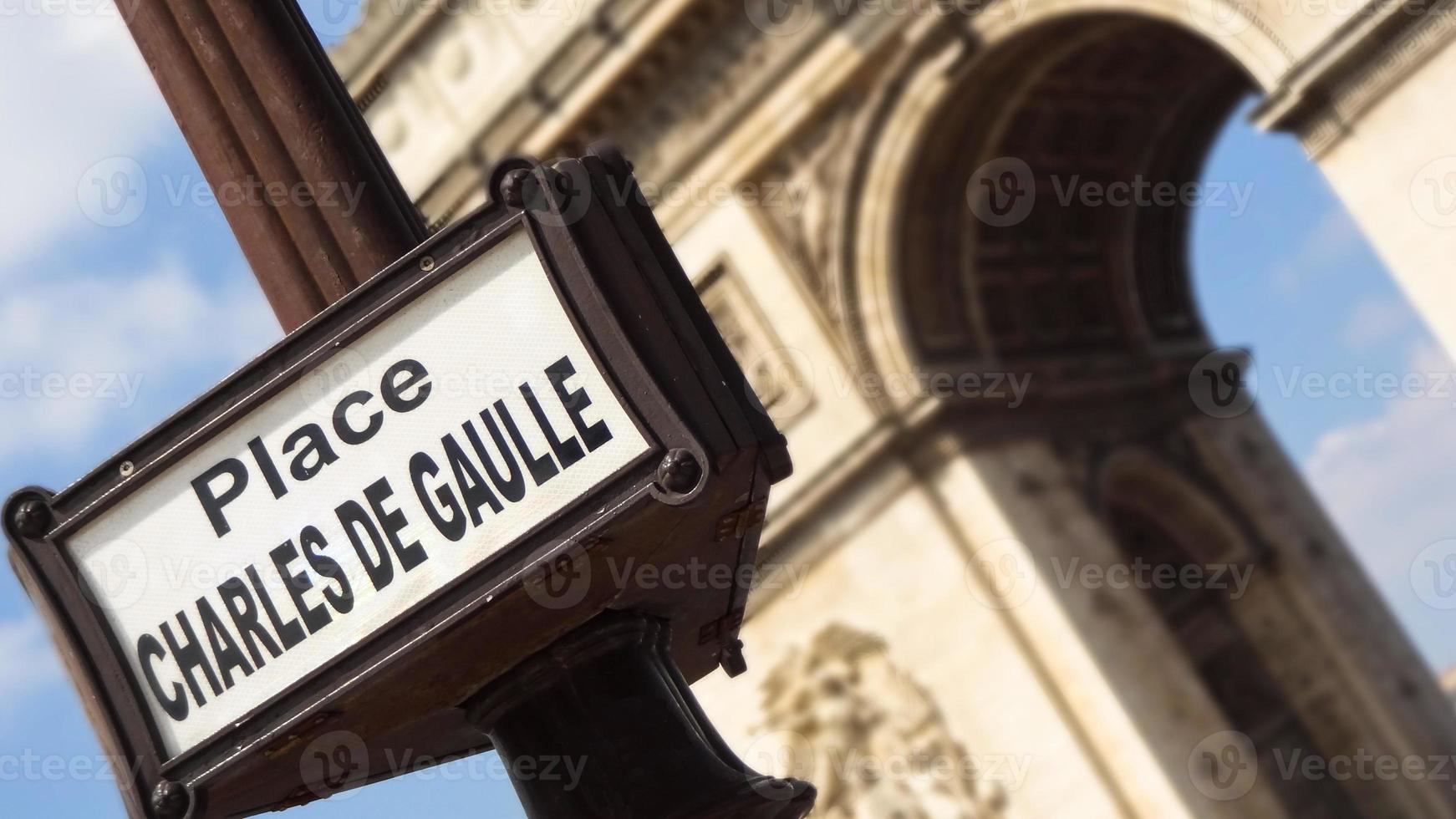 arc de thriomphe in paris, frankreich foto