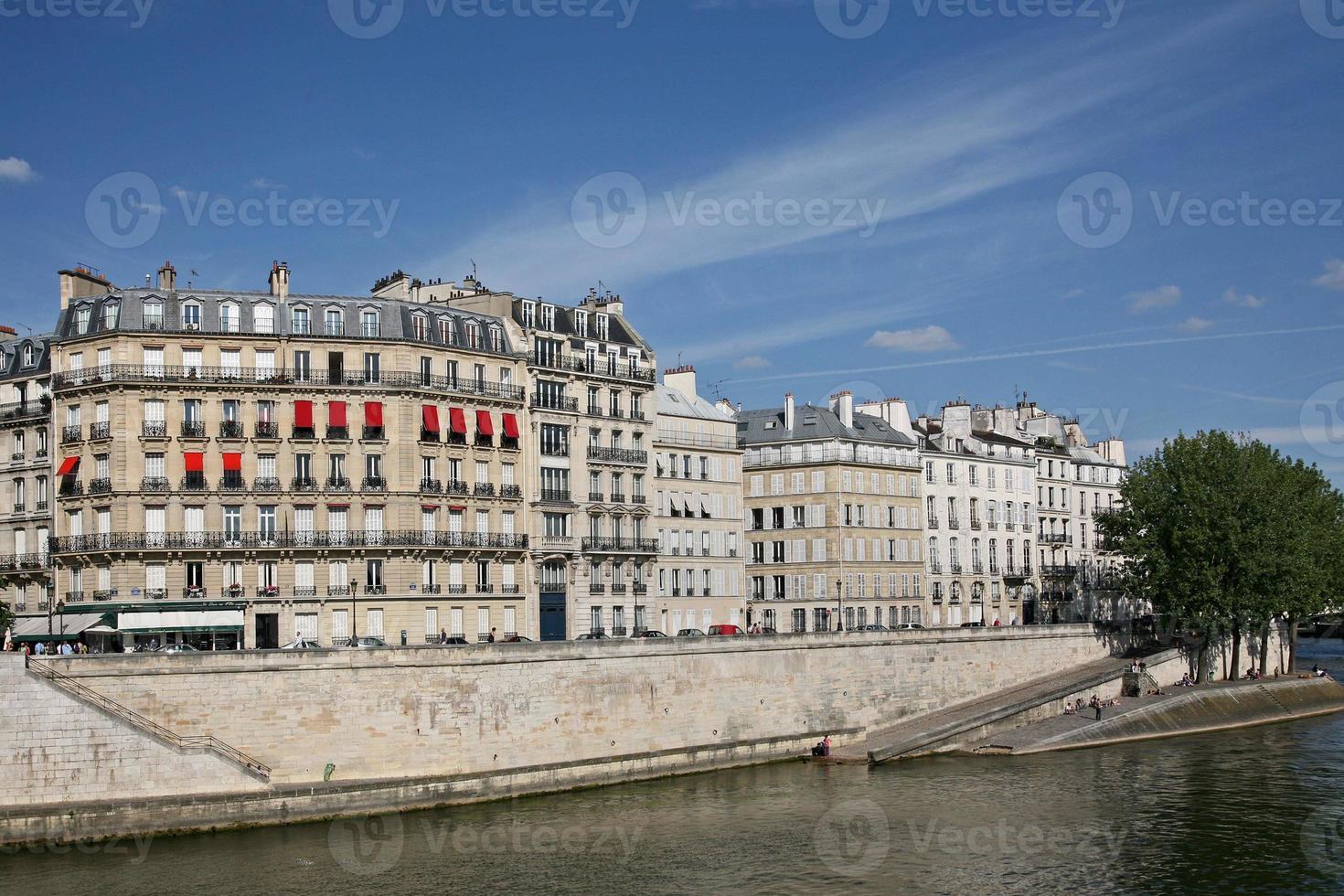 Paris, Seine Böschung foto