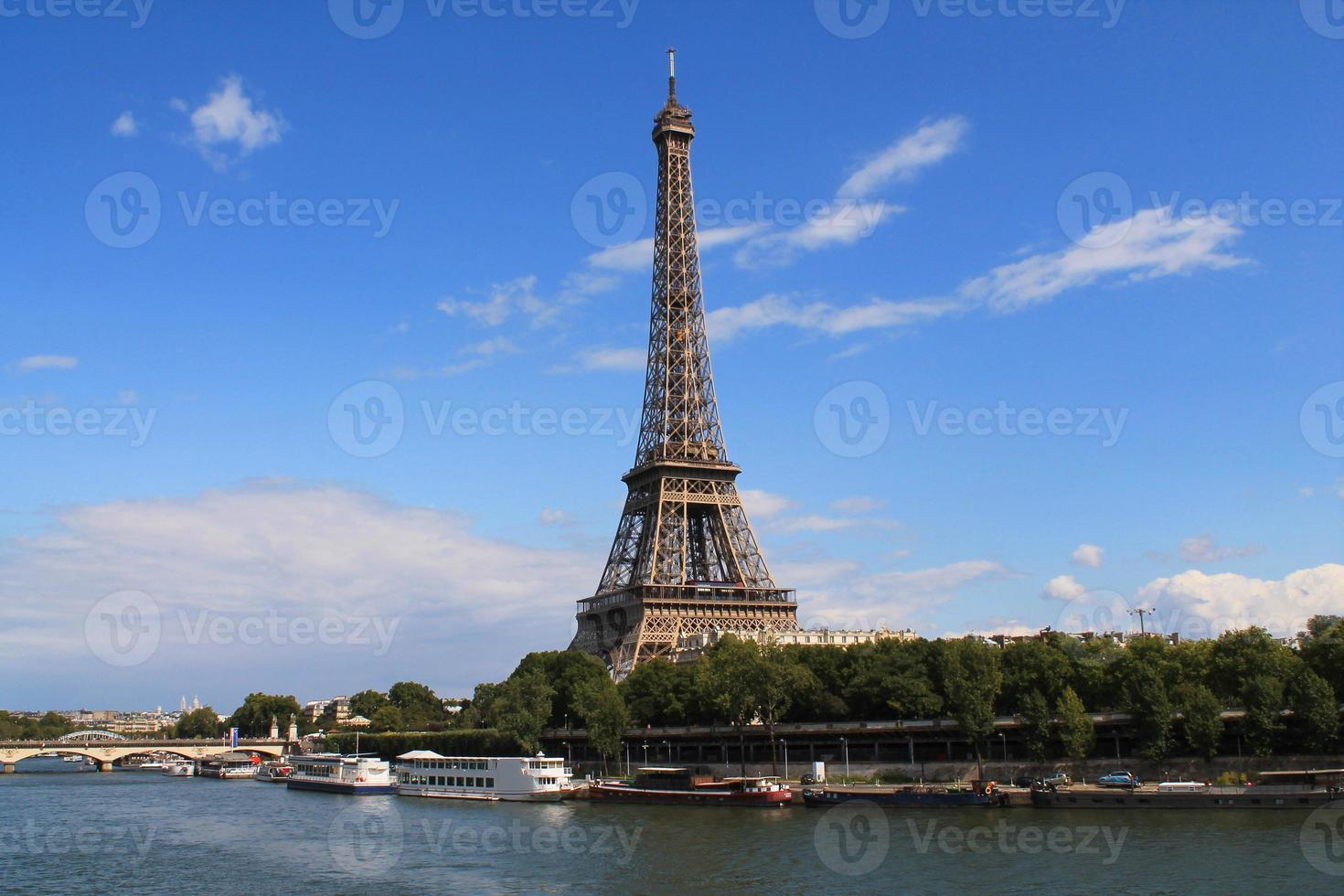 la tour eiffel à paris, frankreich foto