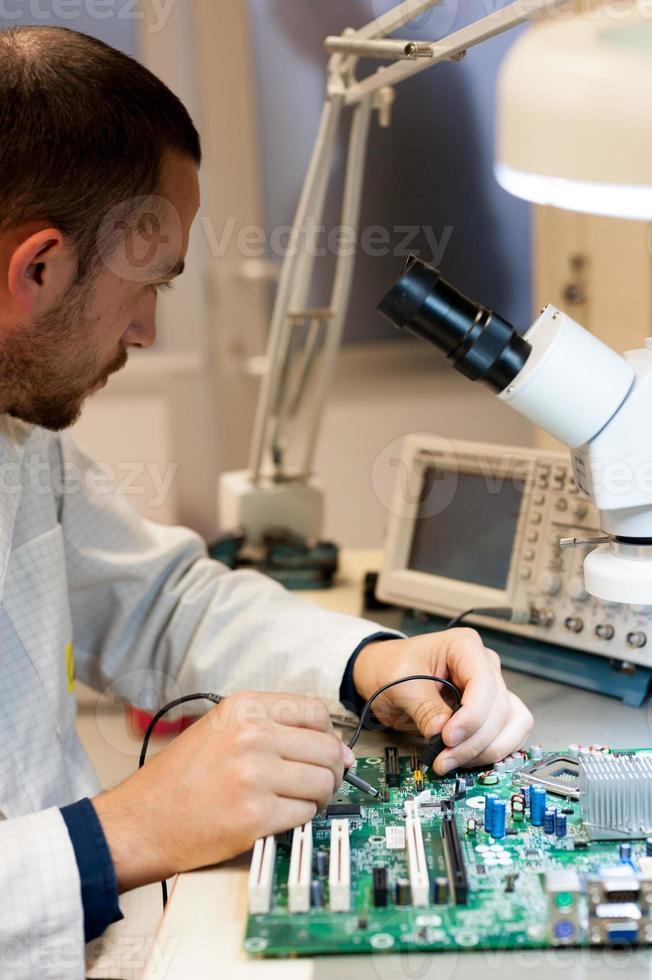 elektronische Signalmessung der Leiterplatte foto