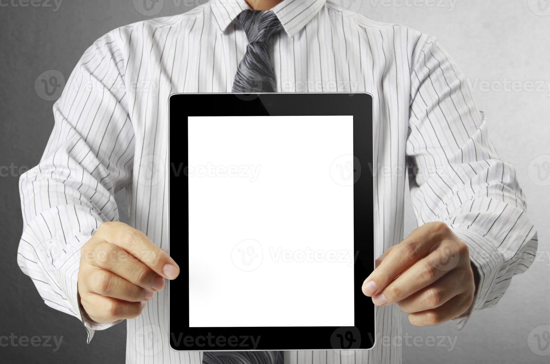 Touch-Tablet in Händen foto
