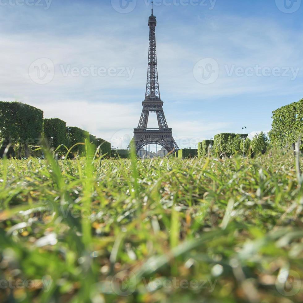 Eiffelturm Wahrzeichen von Paris, Frankreich foto