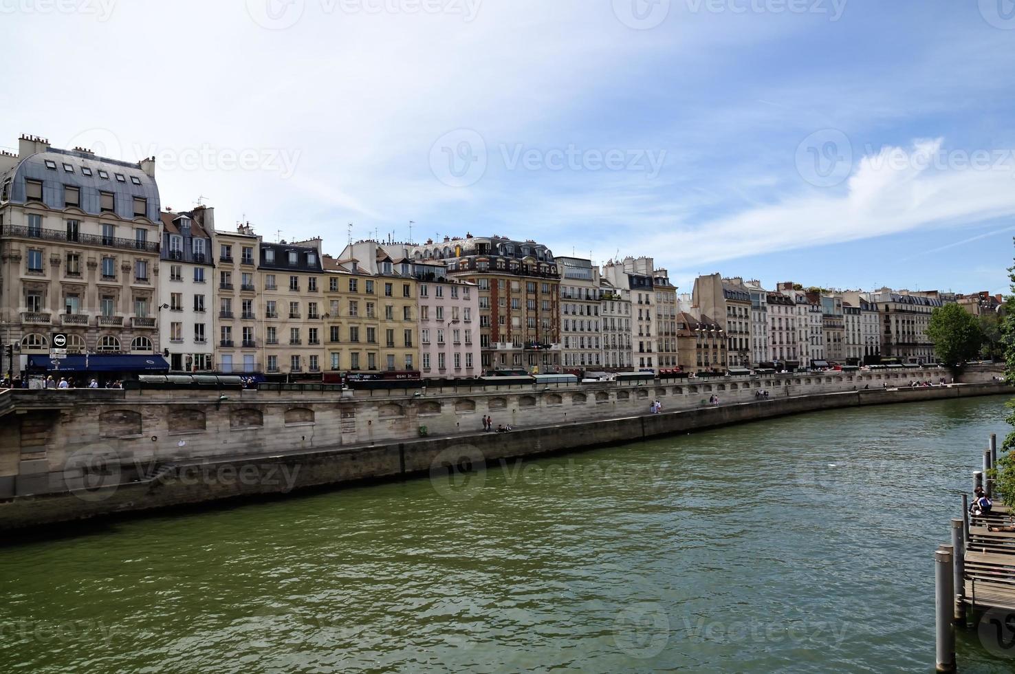 die seine, paris, französisch foto