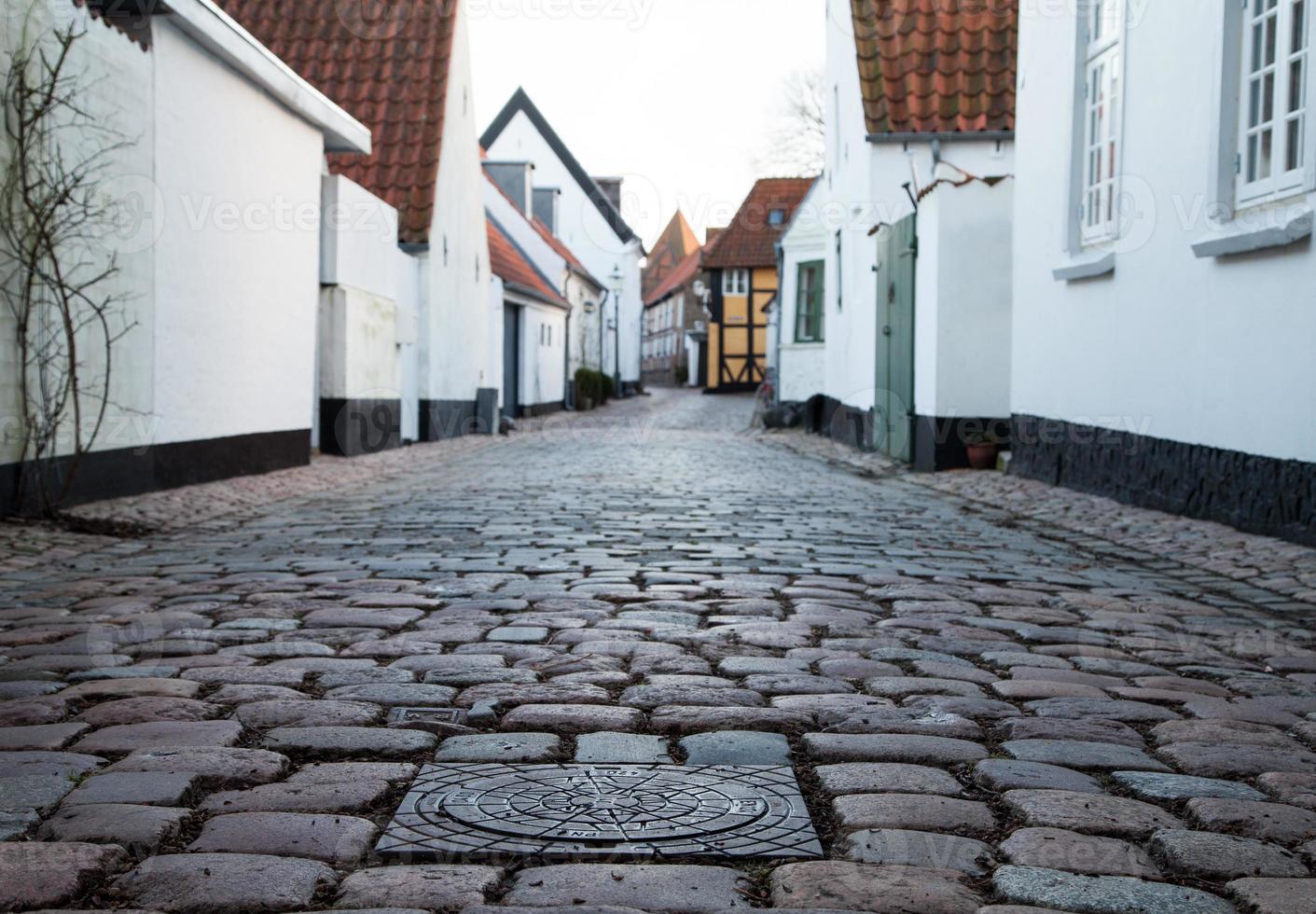 alte Straße in Ribe, Dänemark foto