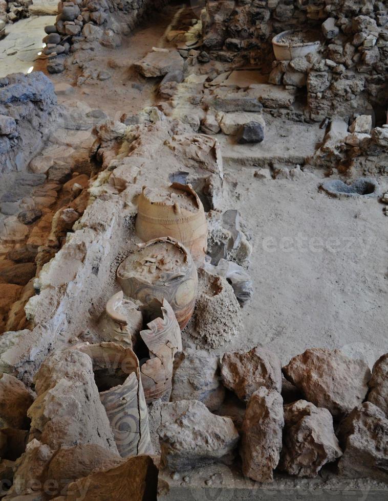 Akrotiri-Artefakte - Porträt foto