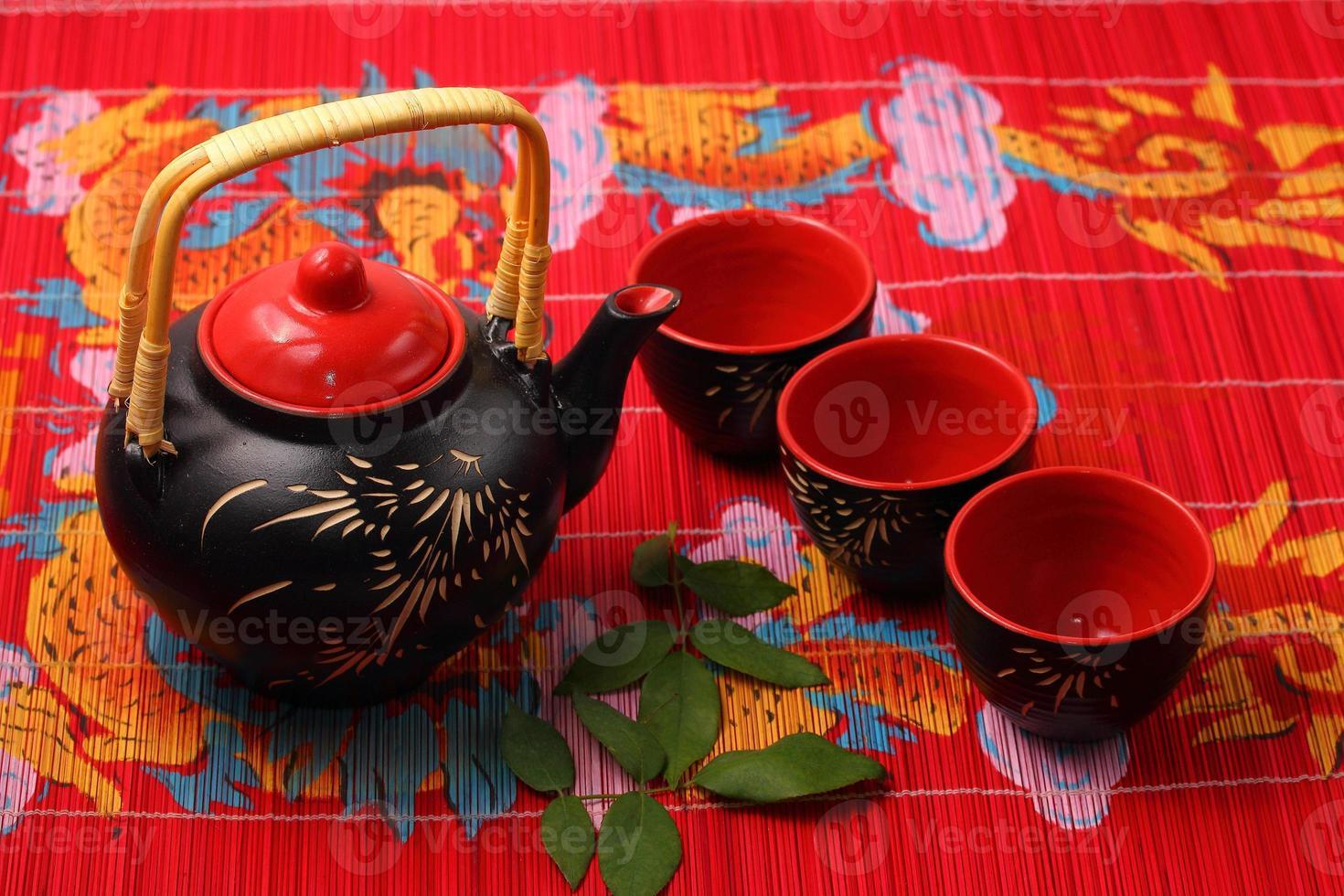 asiatisches Teeservice foto