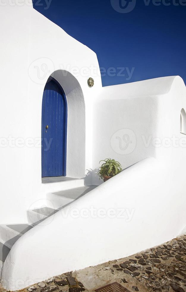 Gebäude in Santorini, Griechenland foto