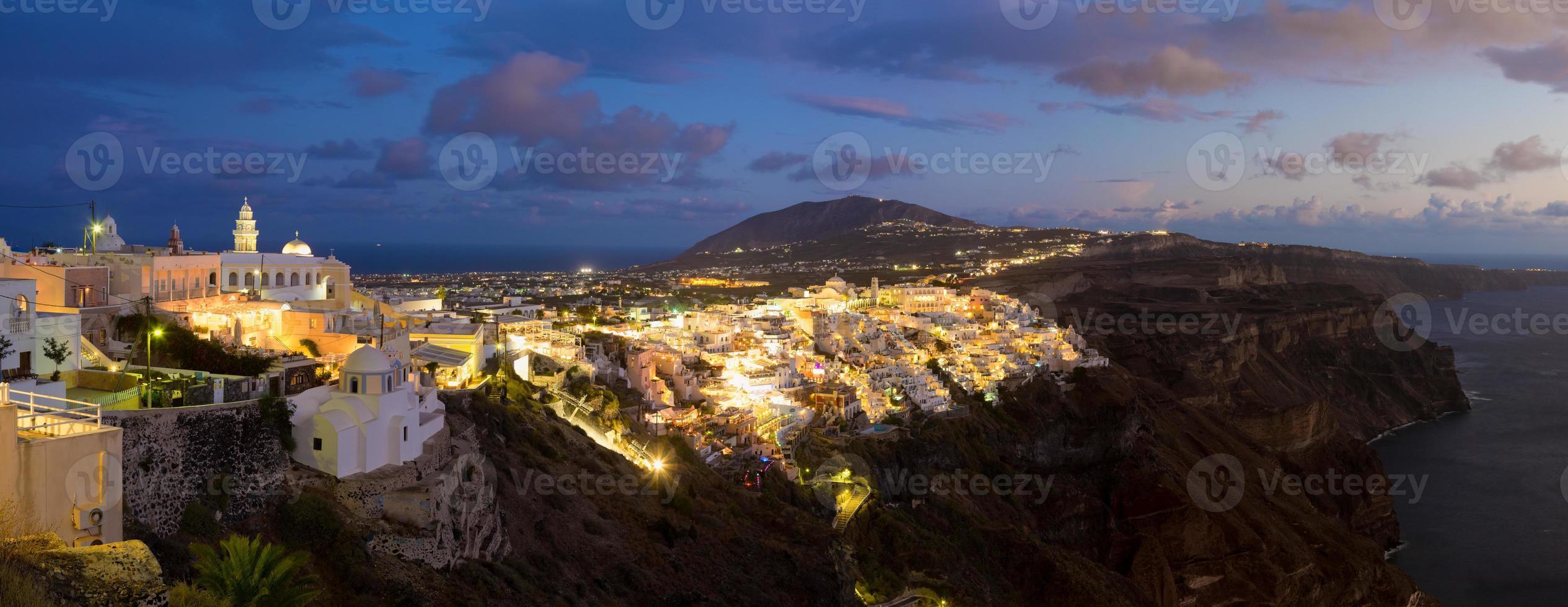 Thira, Santorini, Griechenland. foto