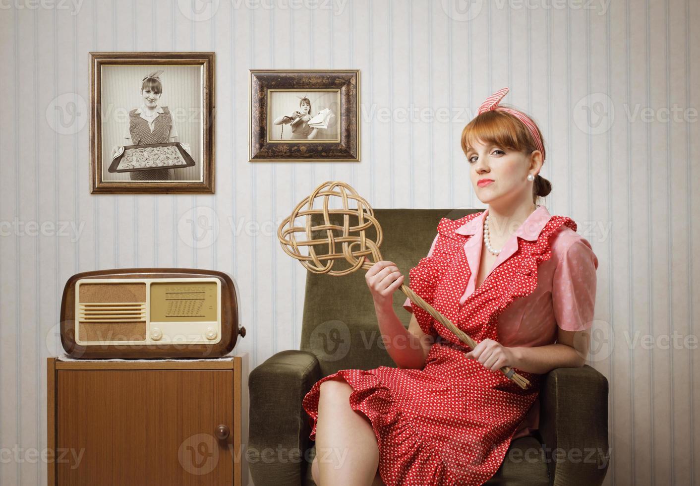 Hausfrau Porträt foto