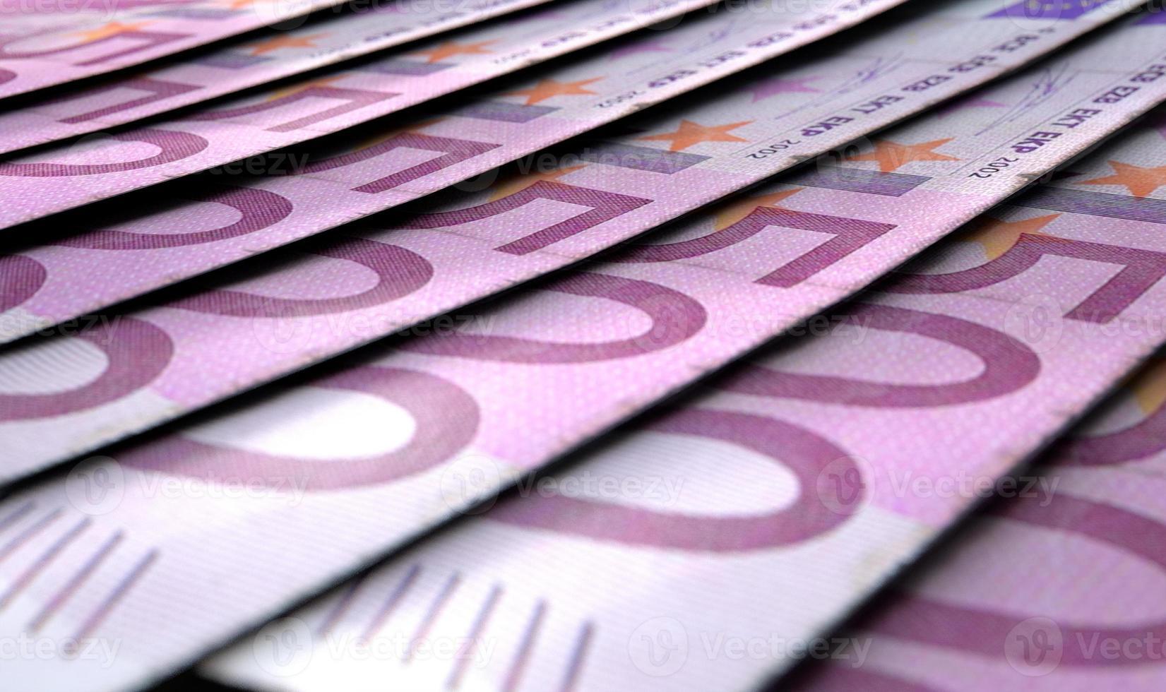 aufgereihte Nahaufnahme Banknoten foto