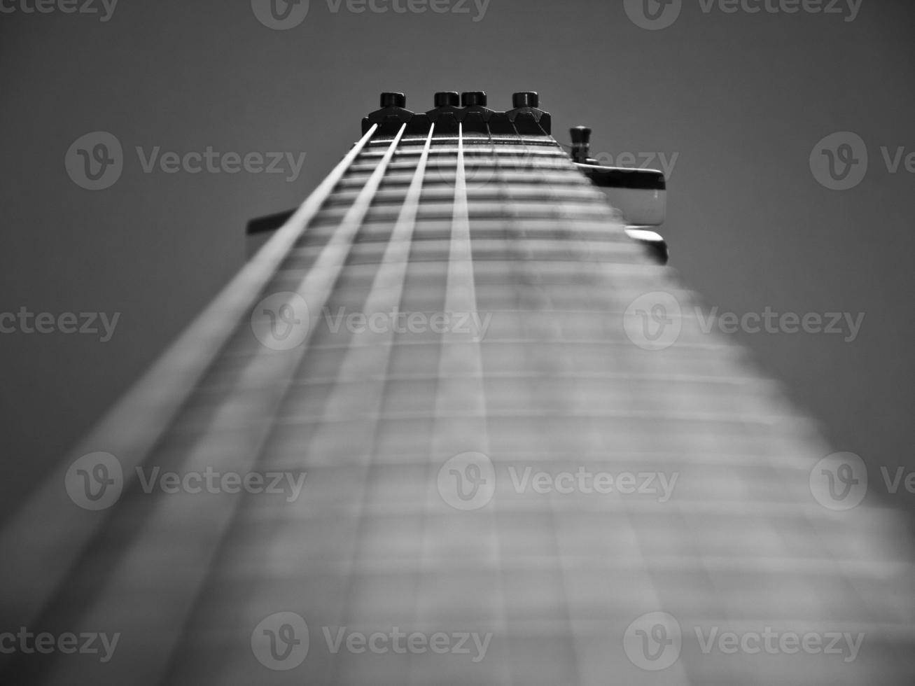 Gitarrennahaufnahme. foto